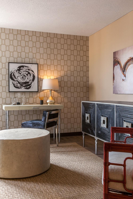 Palo Alto hotel room. Jana Magginetti Interior Design