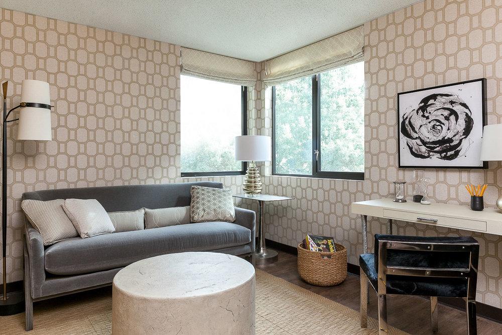 Palo Alto hotel living room. Jana Magginetti Interior Design