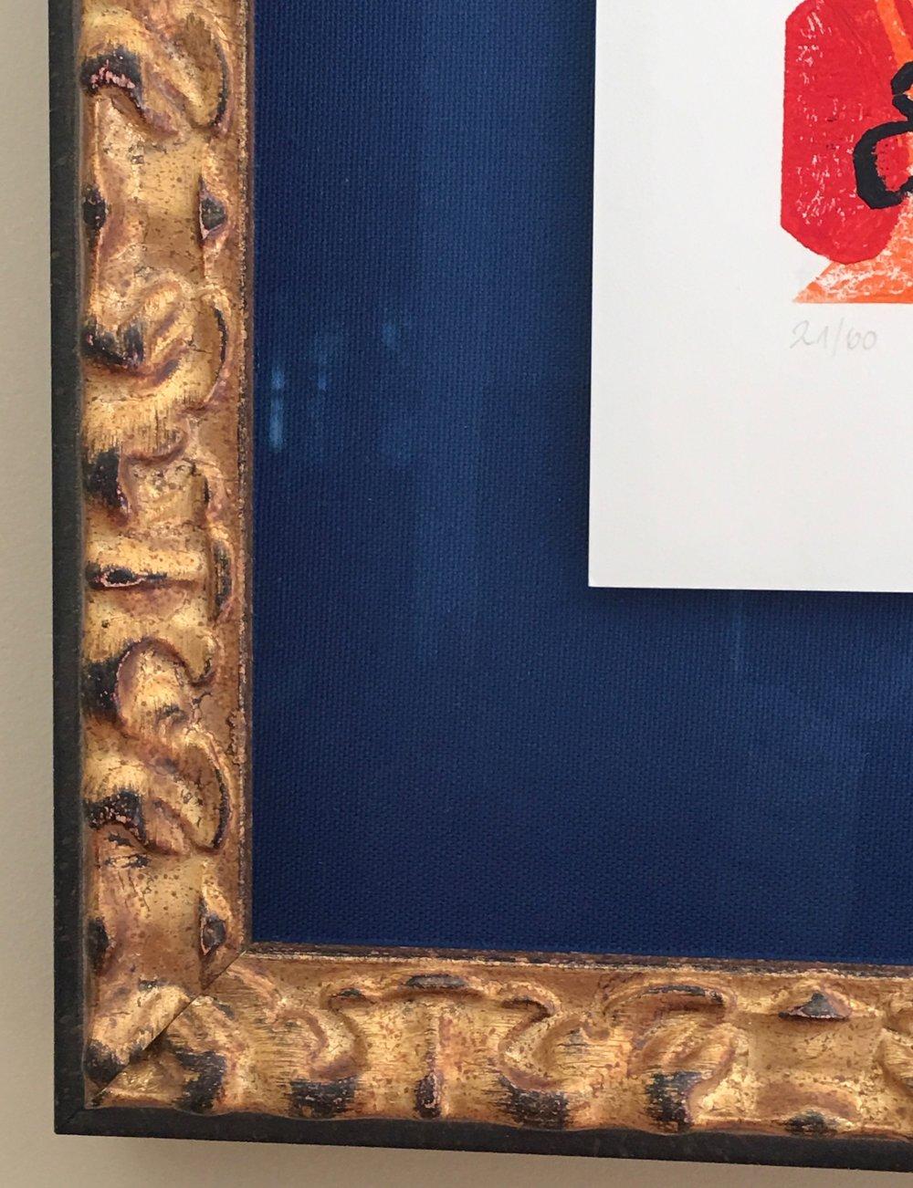 Cristian Korn gilded frame detail.