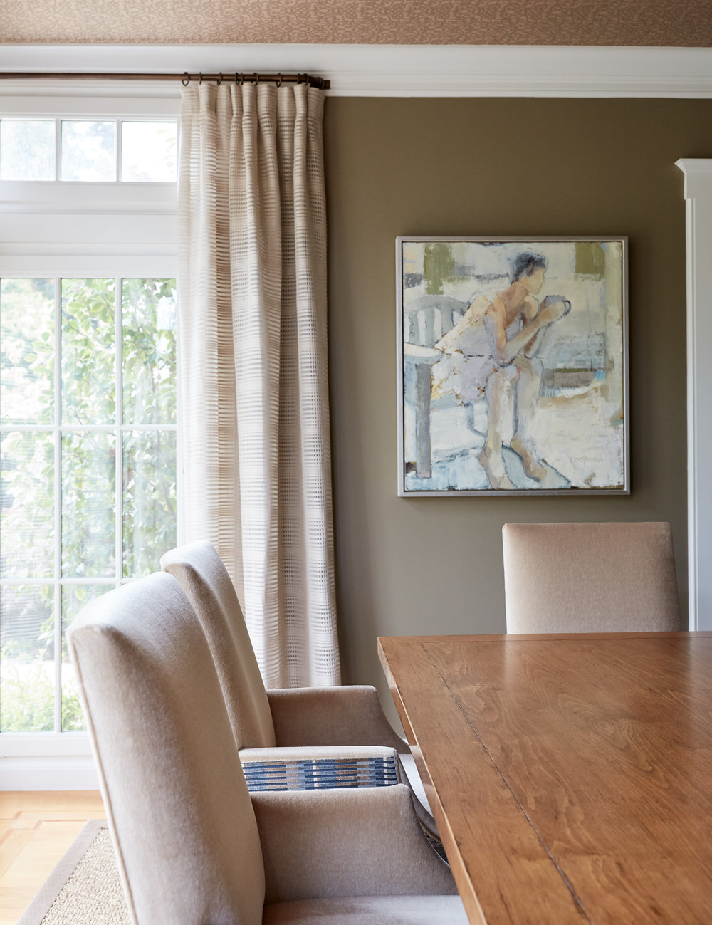 My client loved the calm repose in Melinda Cootsona's figurative piece.