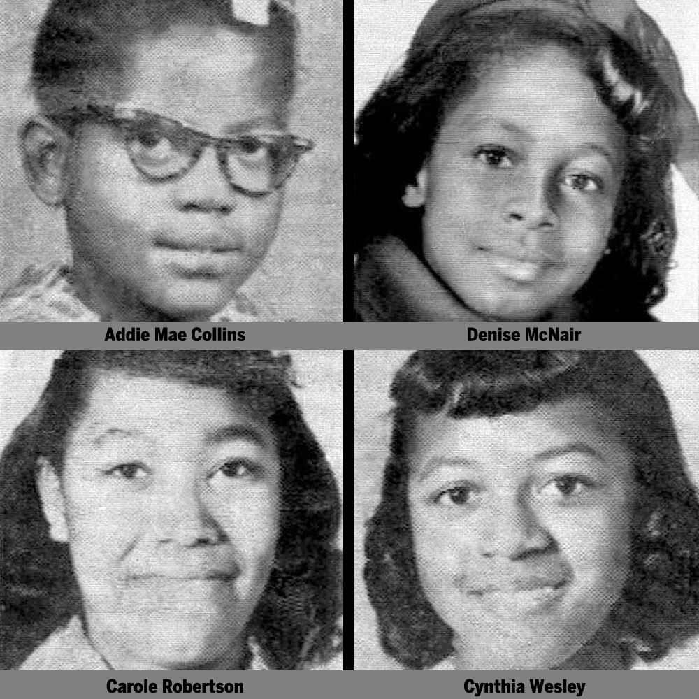 Clockwise from top left: Addie Mae (age 14), Denise (age 11), Carole (age 14), and Cynthia (age 14).