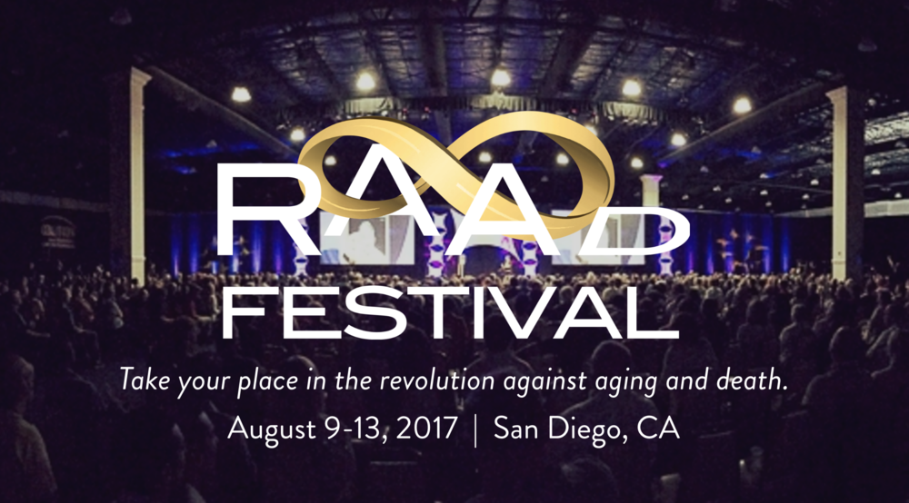 RAADfest 2017 - Come join me in the largest gathering of radical life extension enthusiasts, and learn about the latest scientific advancements! I will be presenting on Nutrigenetics & Secrets to Longevity.View the full schedule and list of speakers at http://raadfest.com/schedule2017.