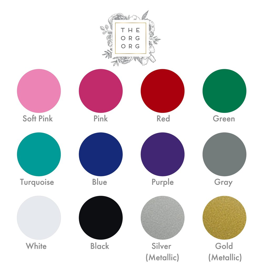 Available vinyl color choices