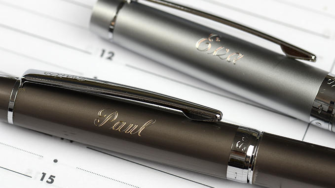 Personalisation of pens with Gravograph engraving machines