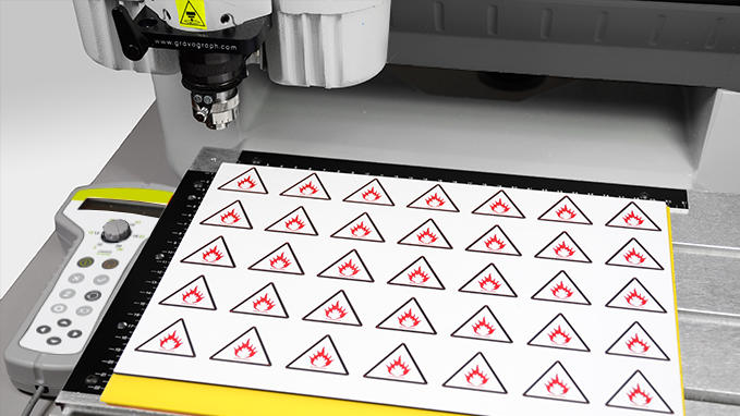 Engraving of label dies with the IS400 machine