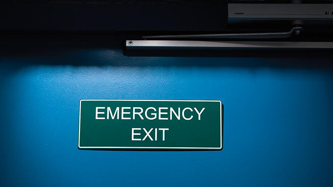 Safety signage for emergency exits