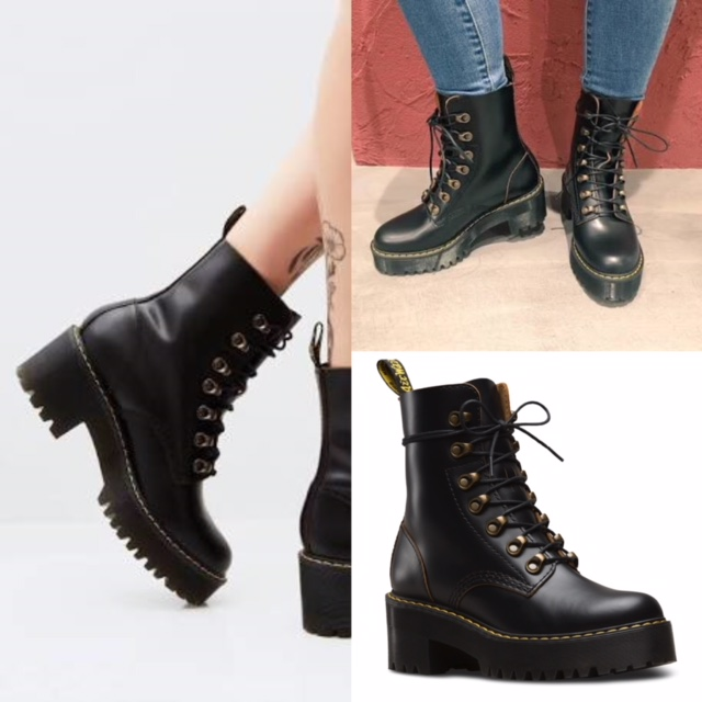 4012662a9711 Dr. Martens - Leona -smooth black leather — M   Michaels Footwear