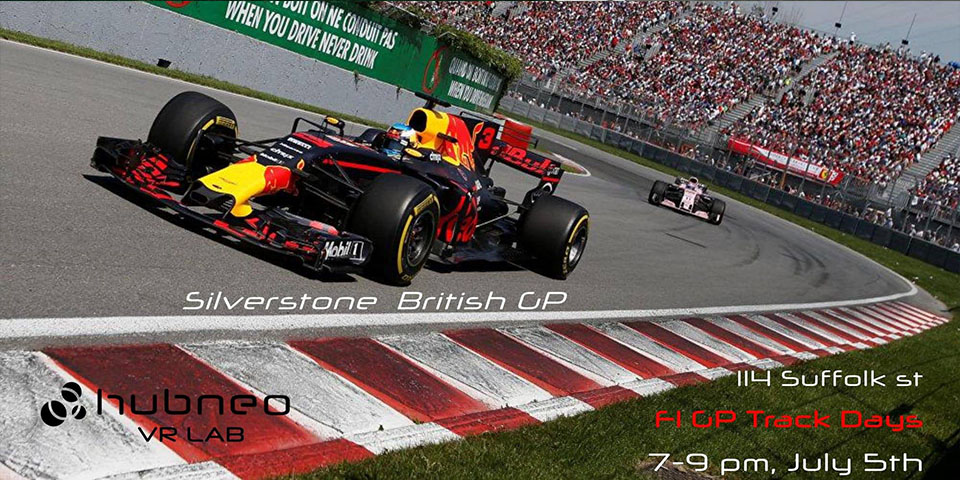 Hubneo VR Lab - F1 Racing Track Day, British Grand Prix      July 5th     7 pm - 9 pm     Tickets and more info