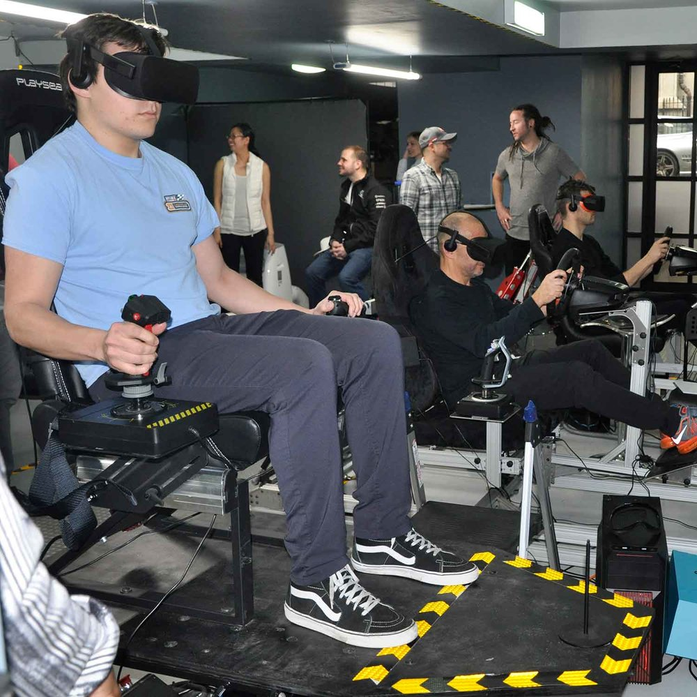 VR Lab Group Event Flight Simulator