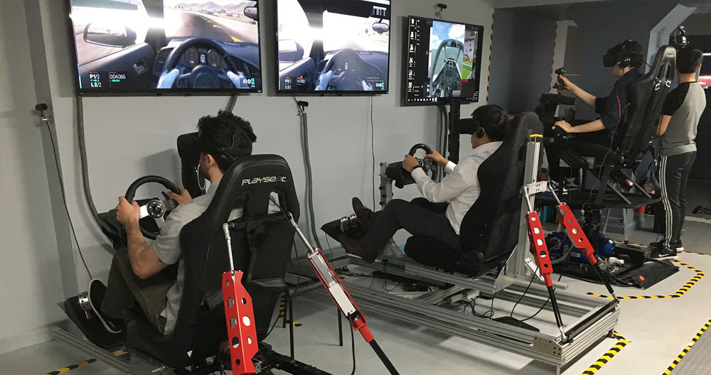 VR Corporate Event Racing and Flight Simulators