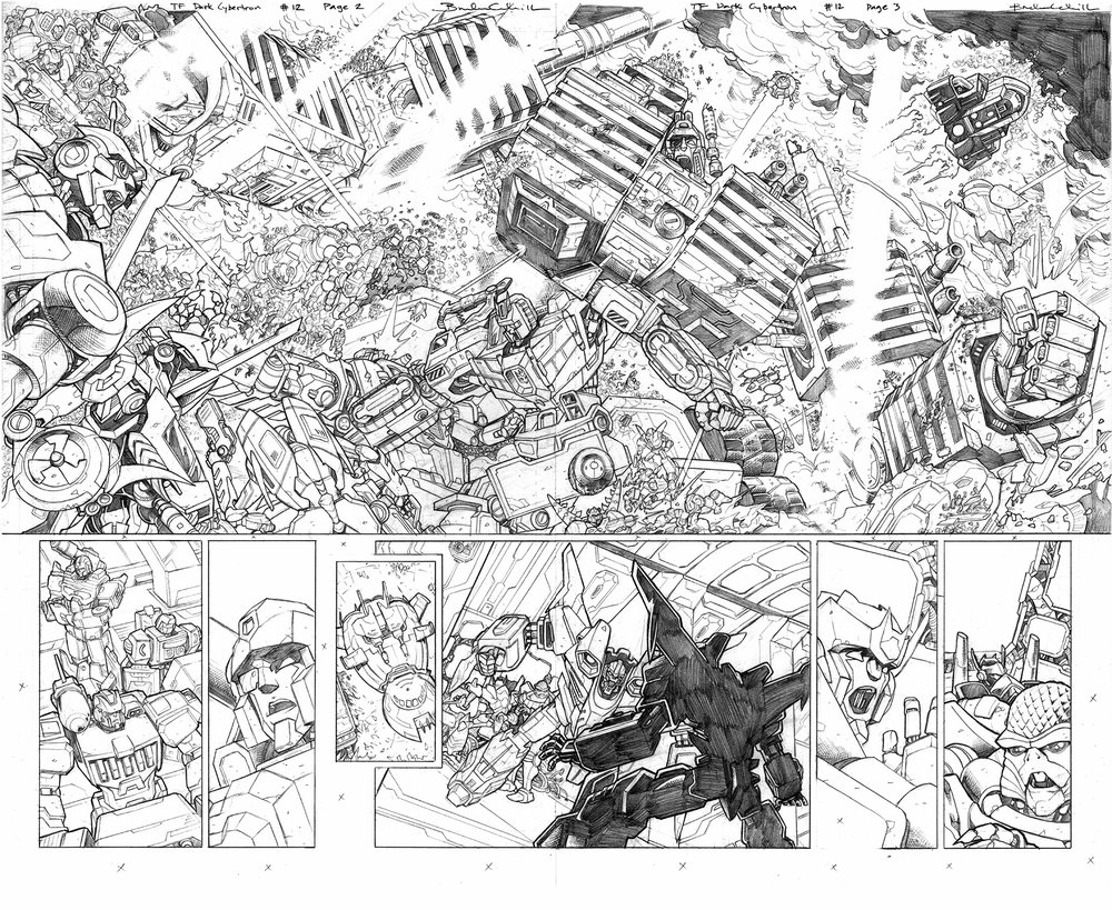 Transformers: Dark Cybertron #12, Pages 2–3
