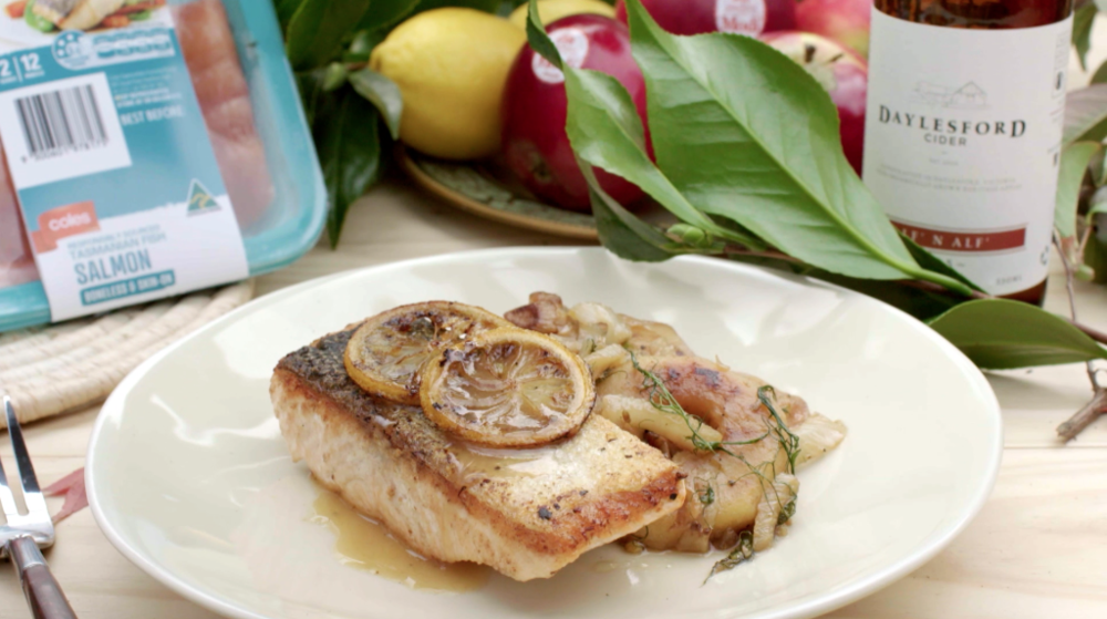 CIDER GLAZED SALMON