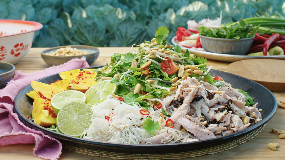 Asian Chicken and Rice Noodle Salad