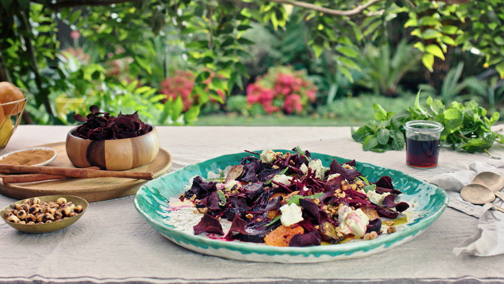 Roasted Beetroot Salad with Goats Cheese