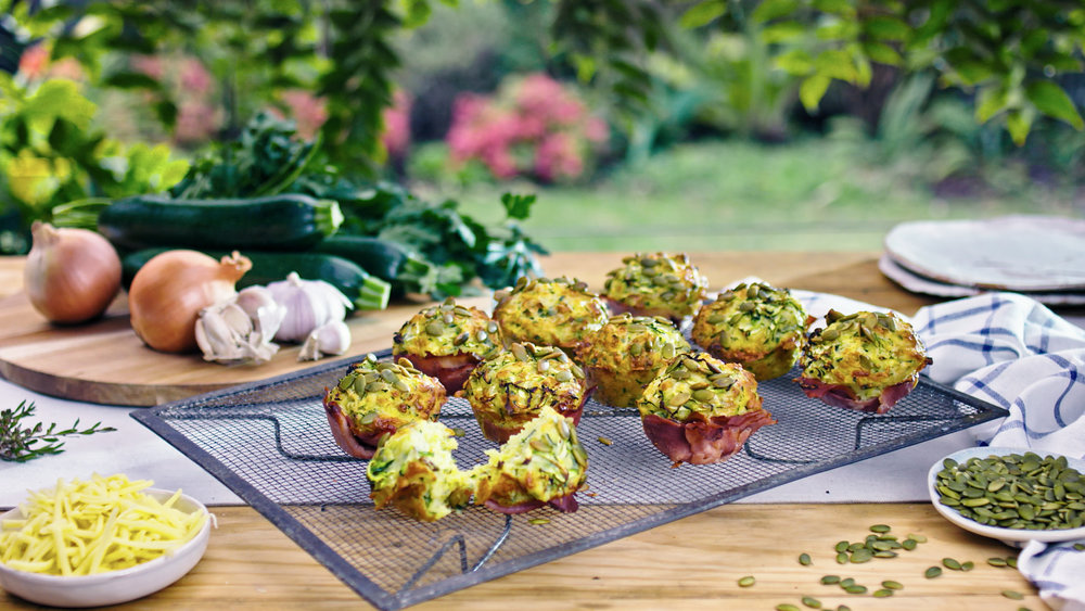 Ham, Cheese and Zucchini Muffin