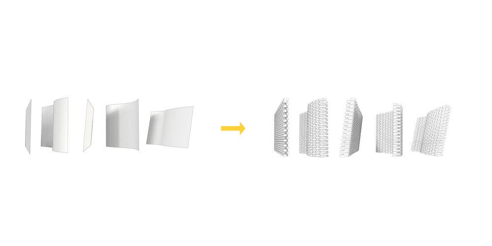 creating a brick wall based on a base surface