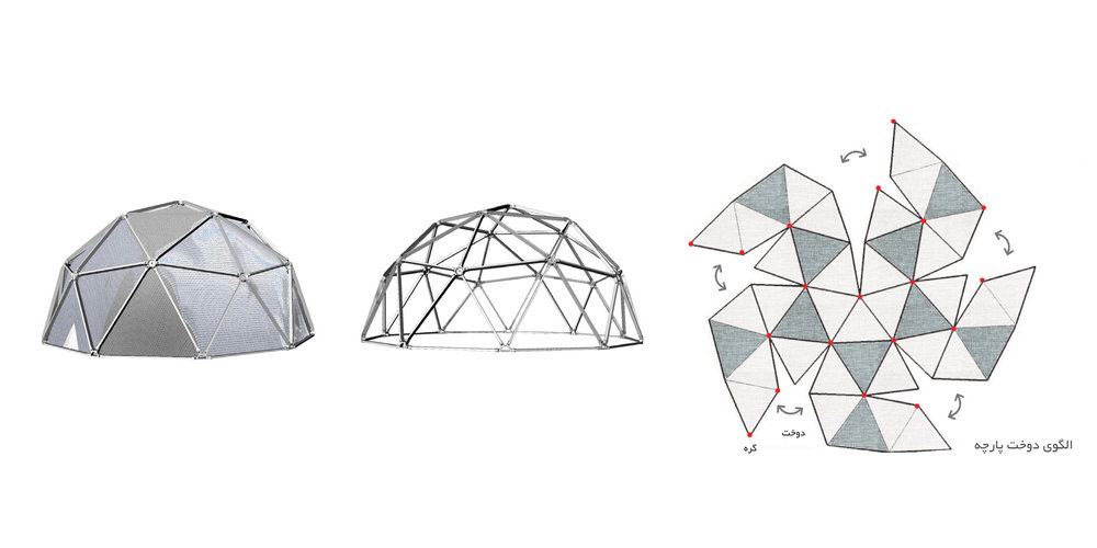 """The """"Smart Citizen"""" Community Center can be Created as a Module for a Safe Shelter, an Example is a Geodesic Dome"""