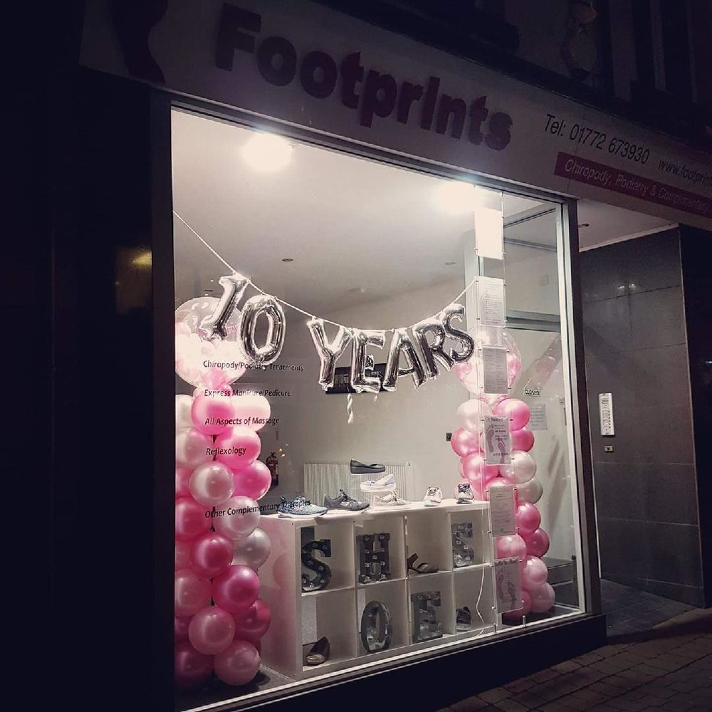 Footprints Kirkham Celebrating 10 Years of Outstanding Service