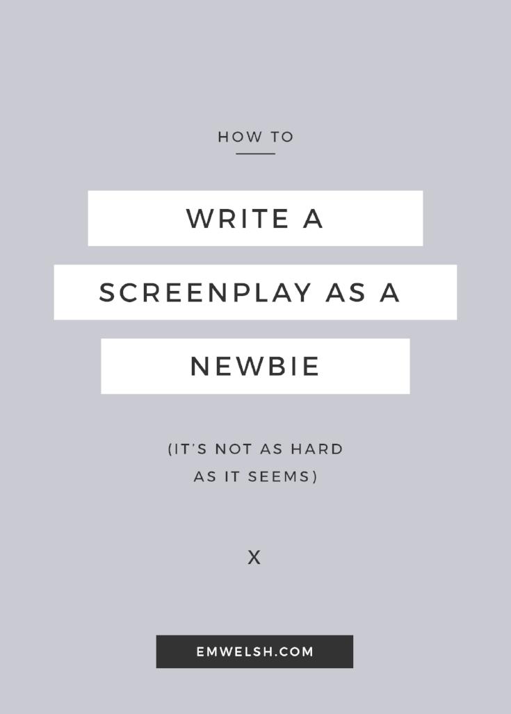 Write a Screenplay