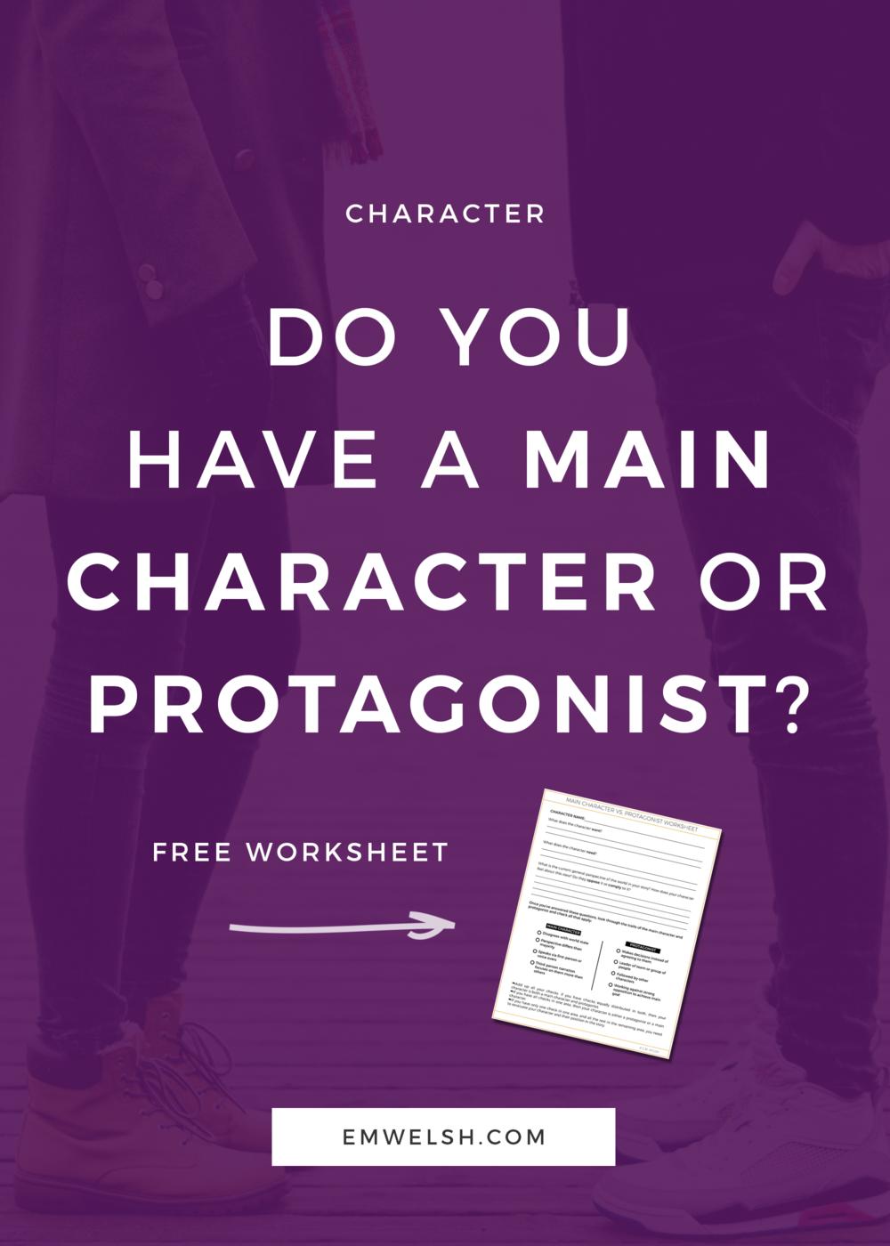 Main Character Versus Protagonist - REBRAND