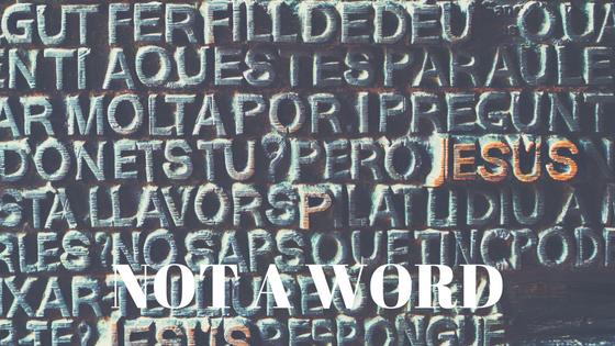 Not a Word - Blog Update