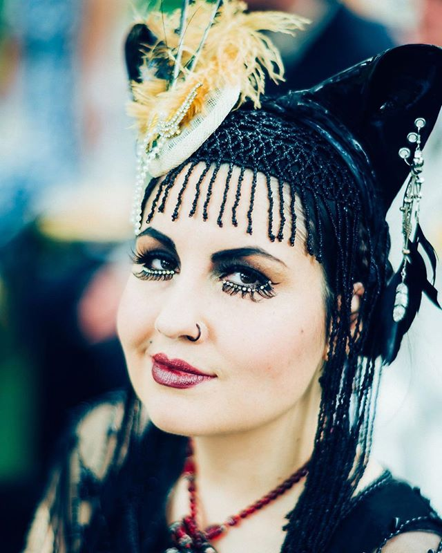 Ladies of the Olympiad, the Triptych. Here's to the witchy women, the steampunks & Victorianas, the outcasts & alt girls, the goths in hot weather...hopefully... ☀️. (Of course, goths can be other genders too 🖤) Everyone's welcome at the world's most eccentric garden party!