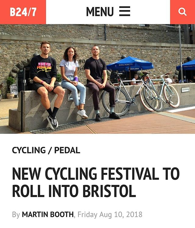 Big thanks to @bristol247 for the article about why we've organised @rideculture_pedal 🚴 we're excited, big time! ☀️ https://www.bristol247.com/lifestyle/cycling-lifestyle/new-cycling-festival-to-roll-into-bristol/ 🚵  Bristol. 17-19th August 2018.  #rideculturepedal #bristol #bristolcycling #bristolevents #visitbristol #bristol247 #foreverpedalling #dasradklub #goodvibesandbikerides #cycling #southwestisbest #cyclinglifestyle #igersbristol #sustrans #betterbybike #fromwhereiride