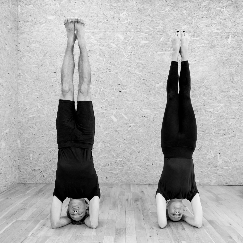 Charlie Taylor-Rugman Alice Taylor-Rugman Private one-to-one yoga classes in London headstand sirsasana