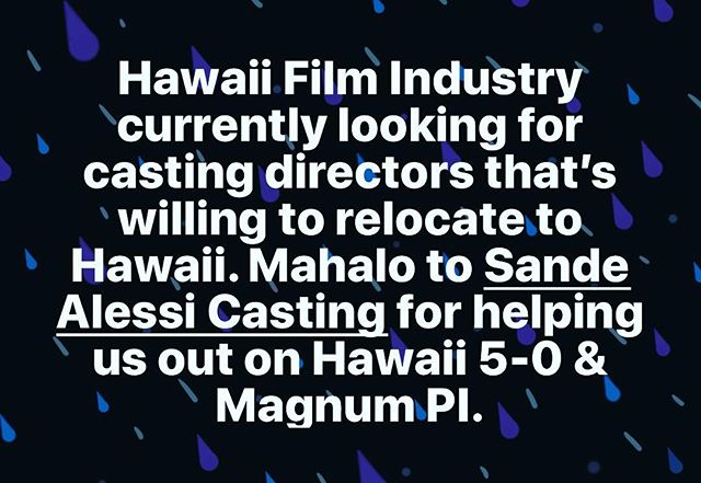 Contact us if you're interested www.hawaiiactorsnetwork.com