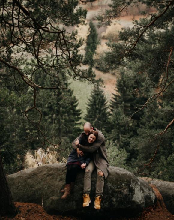 Předsvatební rande Lucky & Petra na Pulčínských skalách za kopečkama ♥  fotila Klárka.