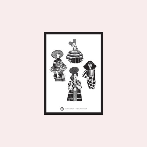 """For their OMOW - """"Our Month Of Women"""" series, I collaborated with UK based collective   BETTERSHARED   to create a series of illustrations that celebrated female creatives across Fashion, Music, Art and Film"""