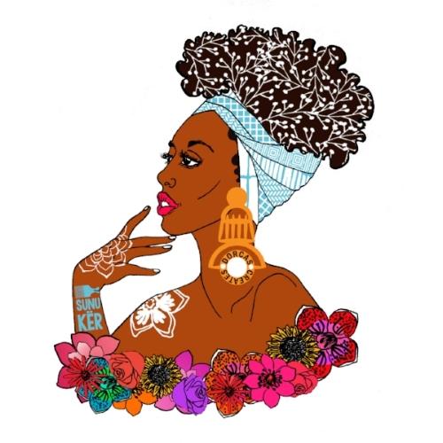 "Created a sticker illustration for UK/Senegalese beauty brand  SUNUKER  alongside other UK based illustrators around the theme of ""Natural African Beauty"""
