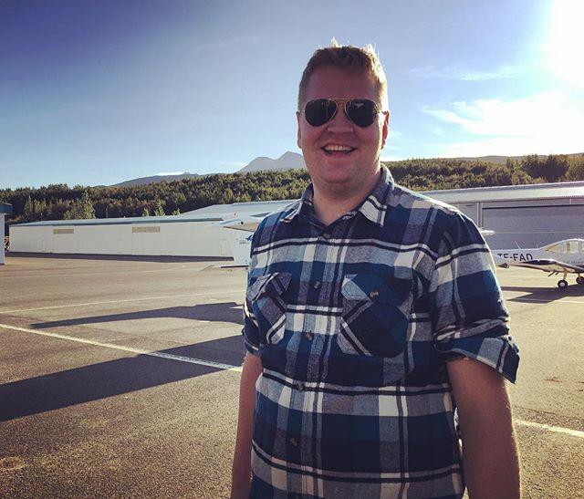 Hér er geirfuglinn @agnarfi á leið frá #akureyri til #reykjavíkur á #tf-ise eftir góða torfærukeppni í dag.