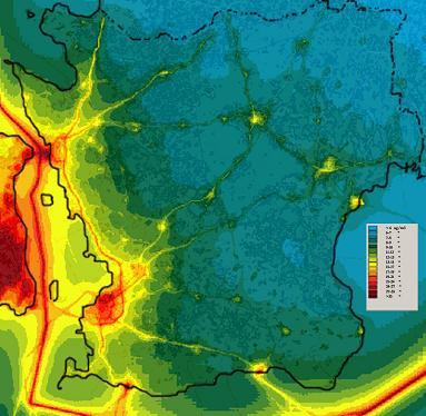 Kartlägga luftmiljön i Skåne