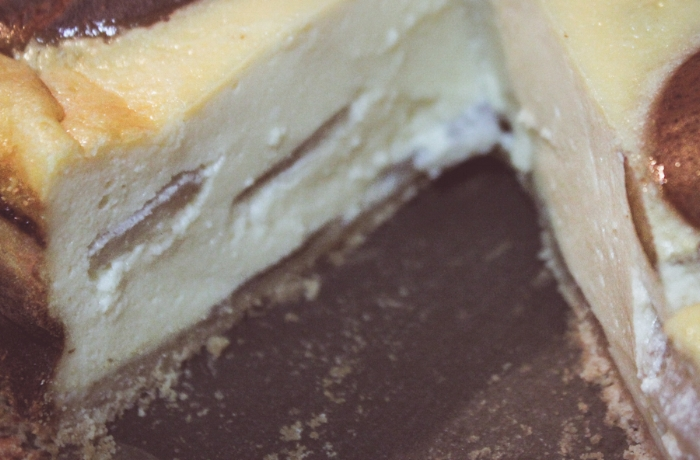 Ricotta-pear-cheesecake