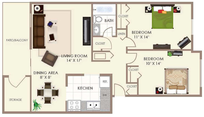 Two Bedroom -
