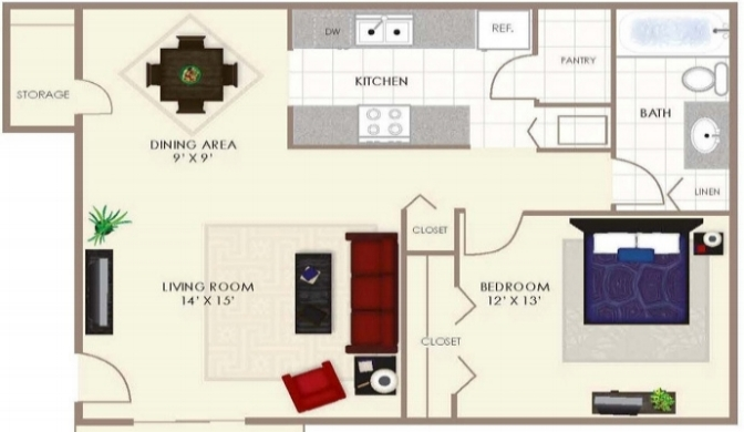 One Bedroom  -