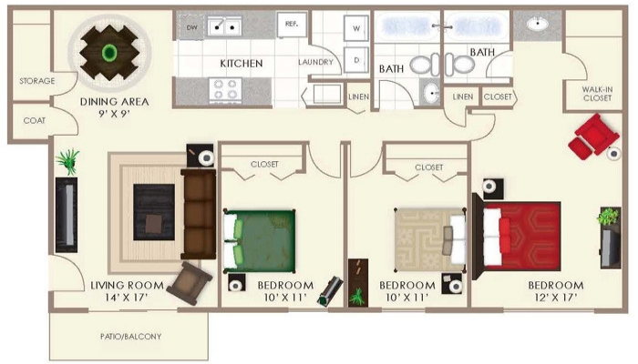 Three Bedroom -