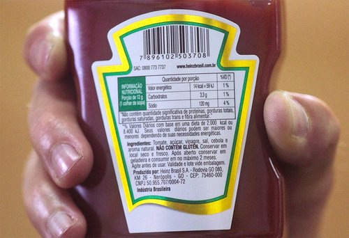 The tiny letters on the ketchup bottle's back label