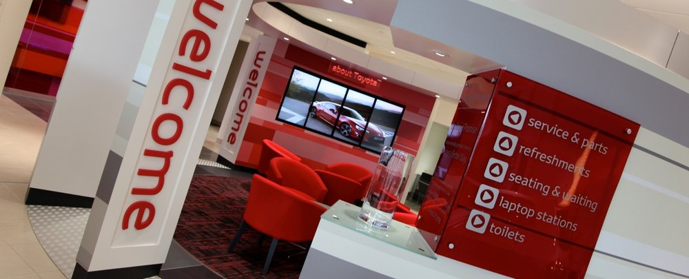 showroom interior design toyota