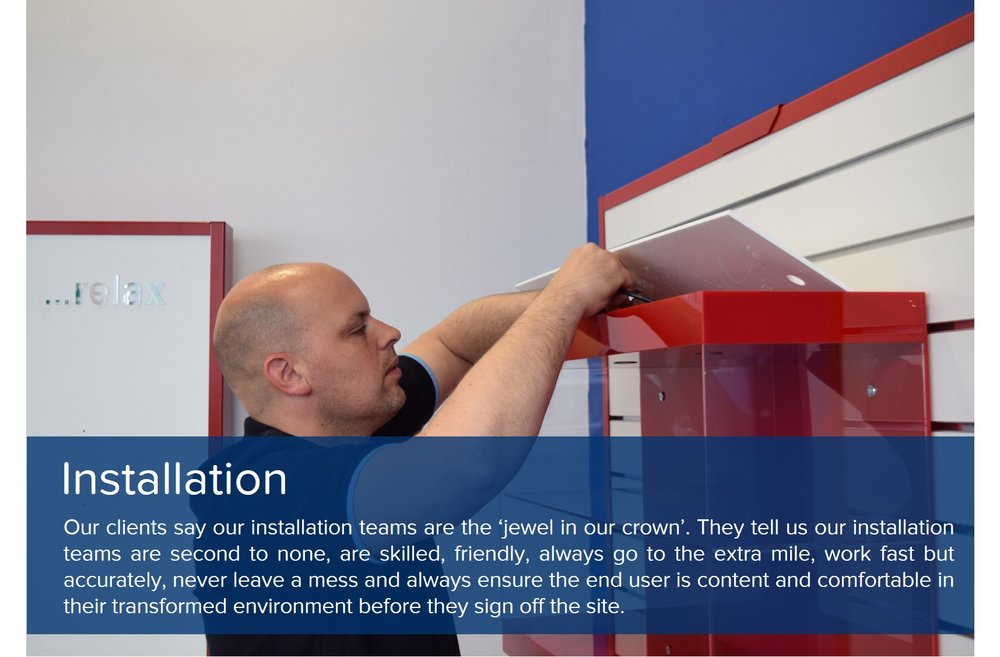 showroom design installation