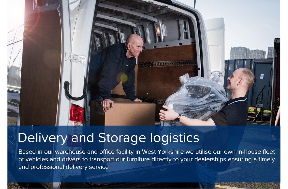 showroom design delivery logistics