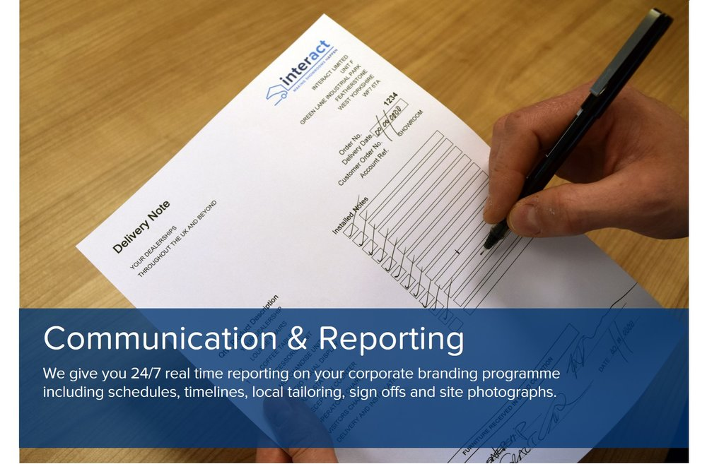showroom design communications reporting