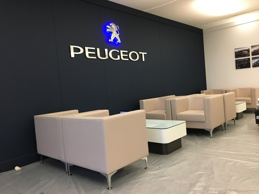 Interact Provide Ace Furniture For Peugeot Interact Showrooms