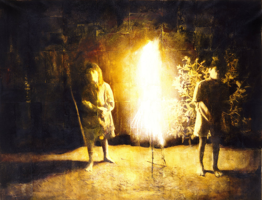 Burning Bush  Phototransfer / Oil on Canvas 233 x 170 cm / 88 x 68 in Private Collection / United States 1998