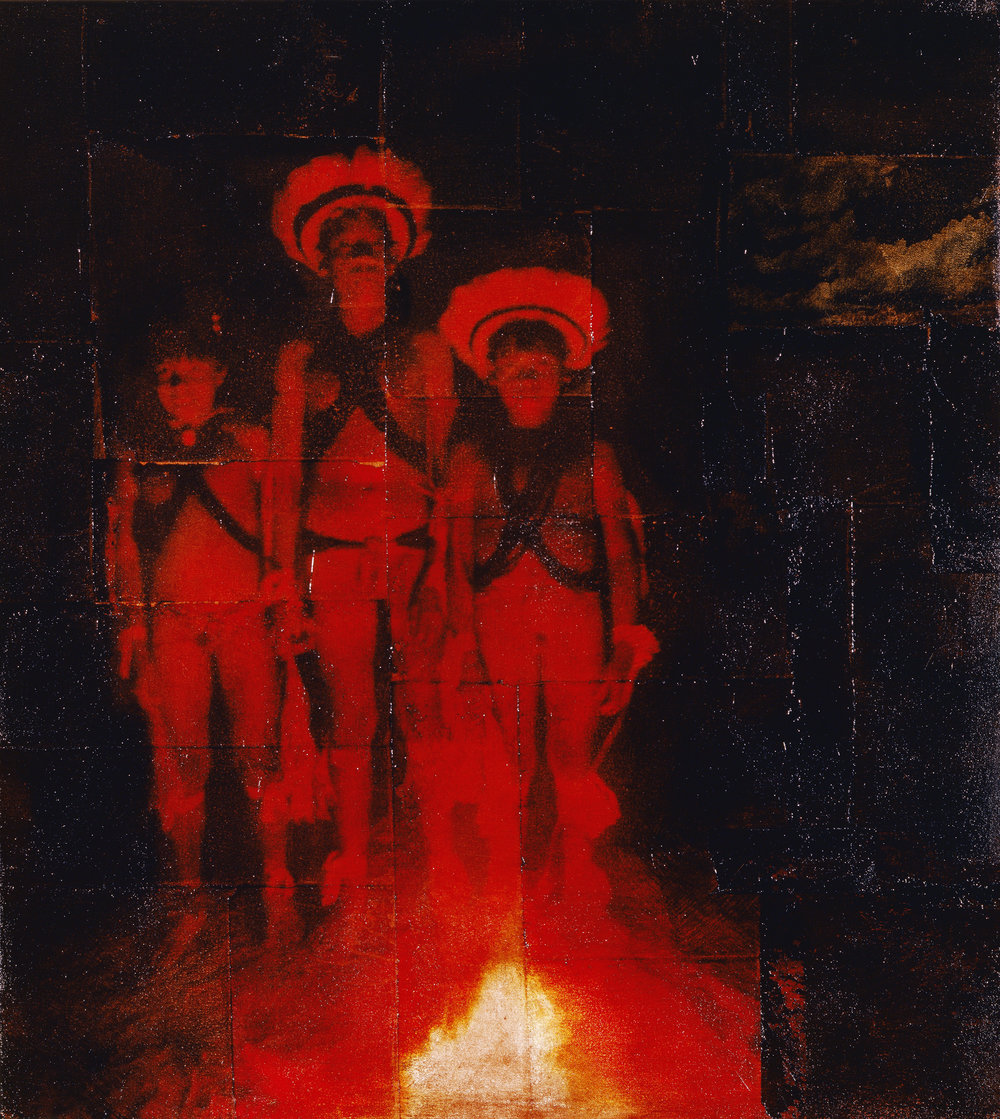 Red Cloud  Phototransfer / Oil on Canvas 66 x 76 cm / 26 x 29 in Private Collection / New York  1998