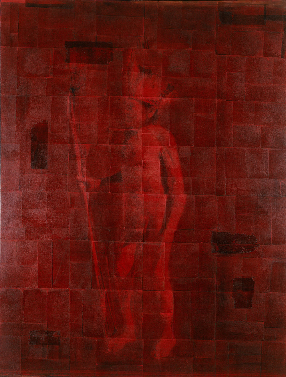 Red Chief  Phototransfer / Oil on Canvas 227 x 170 cm / 90 x86 in Collection of the Per Fronth 1998