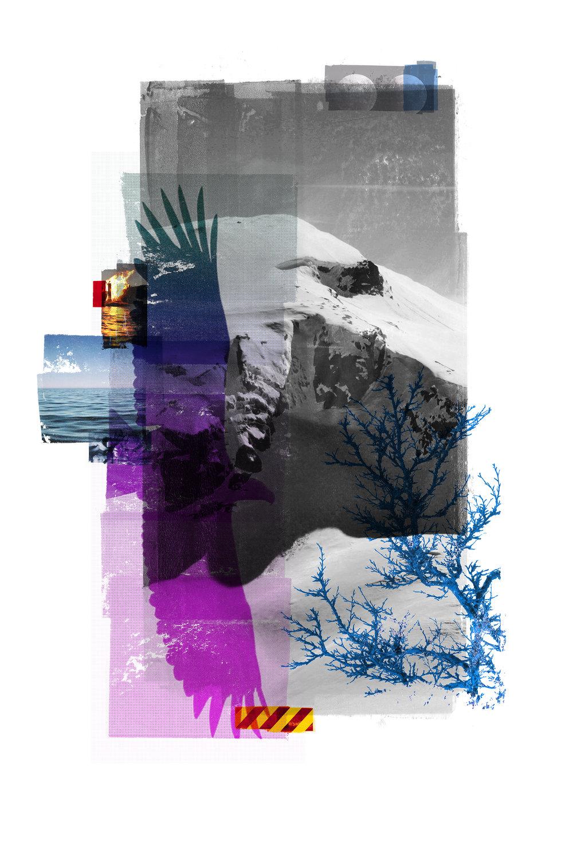 Reservoir / Aquila / Inner Peace ( A Cold World )  Original Archival UV Pigment Print / BFK Rives 250 gr 120 x 80 cm / 47 x 32 in Edition of 50 + 5 A Editeur: Per Fronth Studios / Printer Henrik Aunevik  01 / 2018