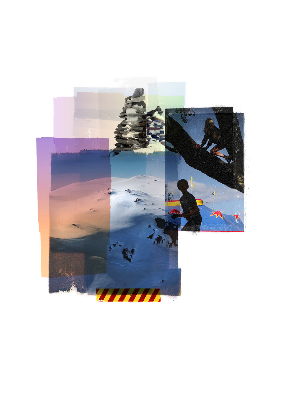 Climbers / Reservoir / Circus   Original Archival UV Pigment Print / BFK Rives 250 gr 25 x 35 cm / 18,5 x 13,7 in Edition of 50 + 5 A Editeur: Per Fronth Studios / Printer Henrik Aunevik  Commission: BI Norwegian Business School  10/2017: