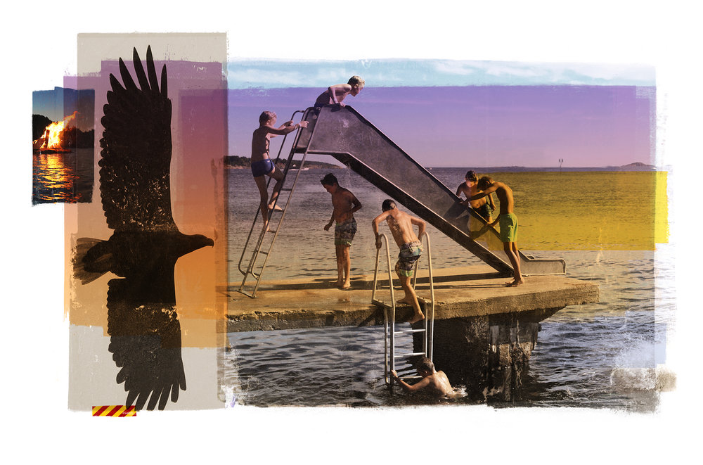Harmony / Aquila (Boy in the shadow / Shadow in the boy)  Photolitho/ IDEM PARIS BFK Rives 250 gr 118 x 78 cm / 46 x 30 in Edition of 100 + 15 Ap Editeur: IDEM PARIS / Per Fronth  11/2017: